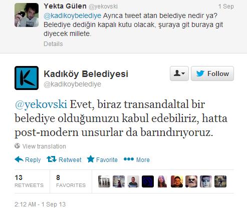 kadıköy belediyesi twitter cevapları