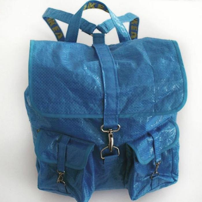 ikea mavi sırt çantası