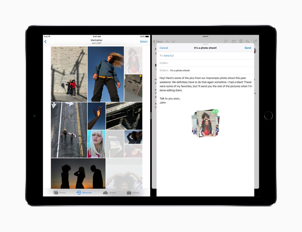 iOS 11 sürükle bırak