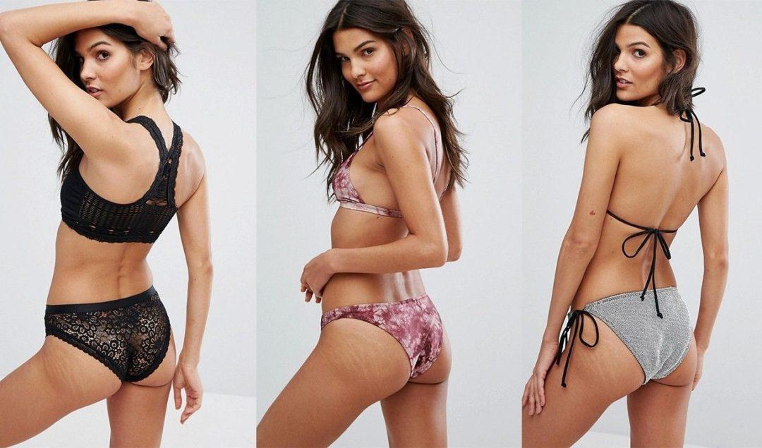 ASOS'ın rötuşsuz bikini modelleri