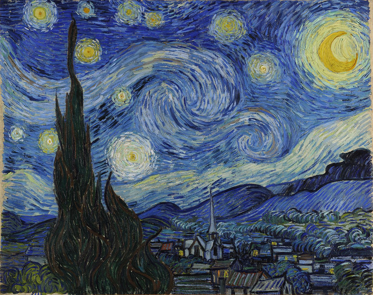 starry night tablosu