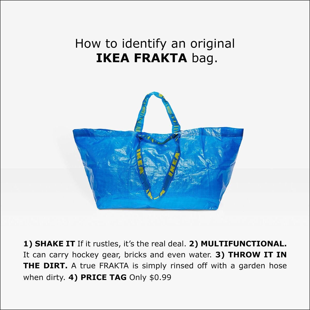 Original Ikea Frakta Bag reklamlar