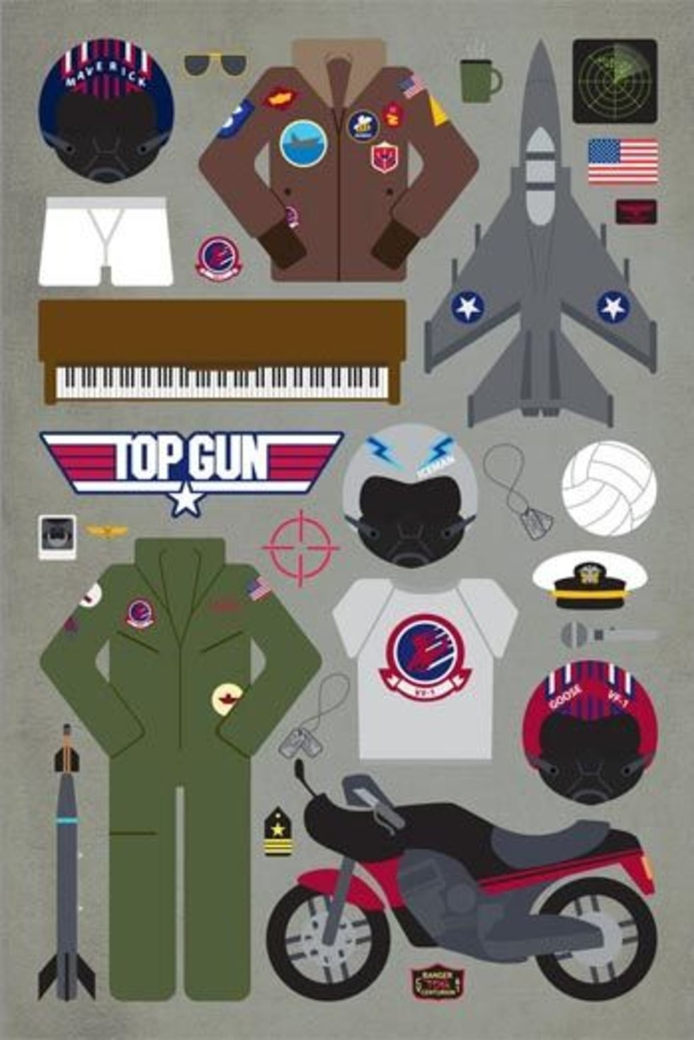 top gun minimal film afişi