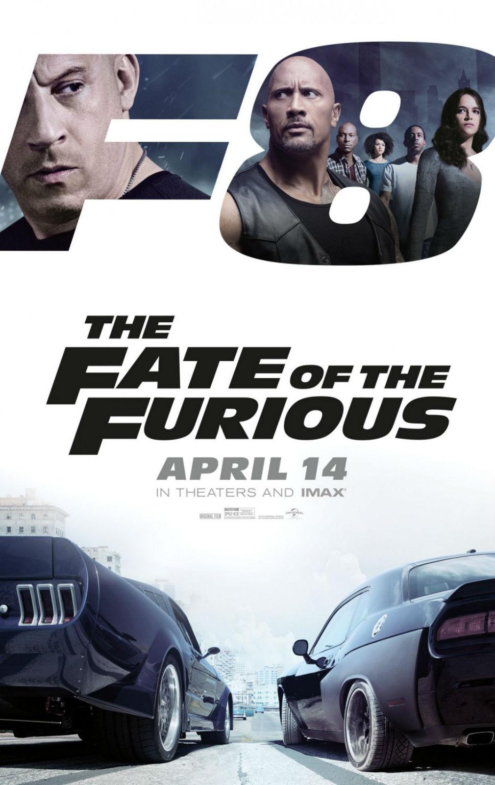 Hızlı ve Öfkeli 8 orijinal film afişi