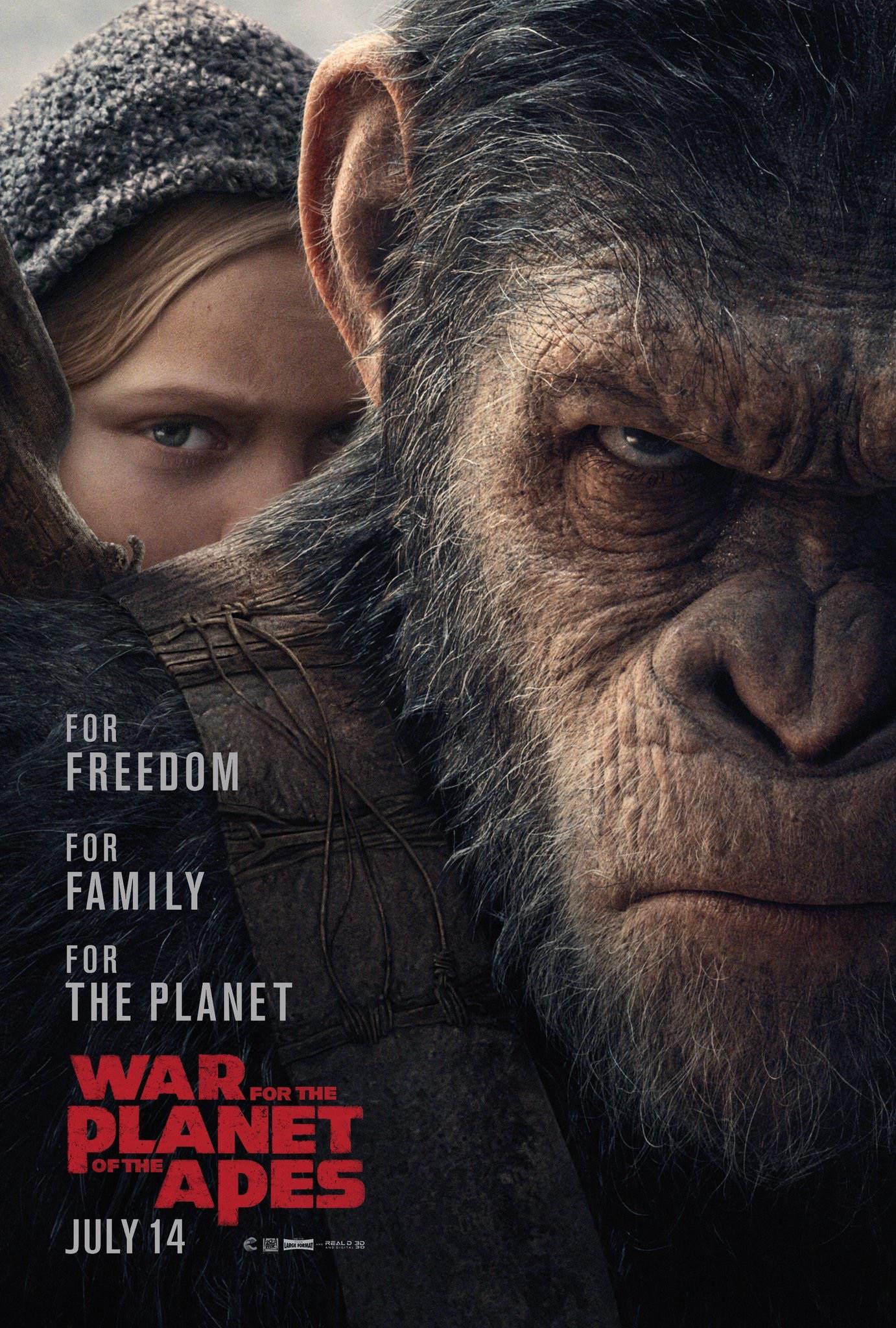 Maymunlar Cehennemi: Savaş filmi orijinal film afişi