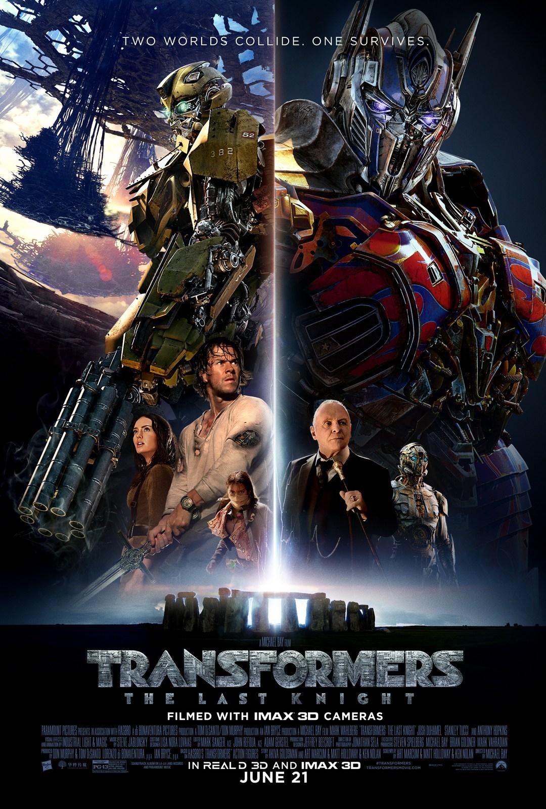 Transformers 5 Son Şovalye filminin orijinal film afişi