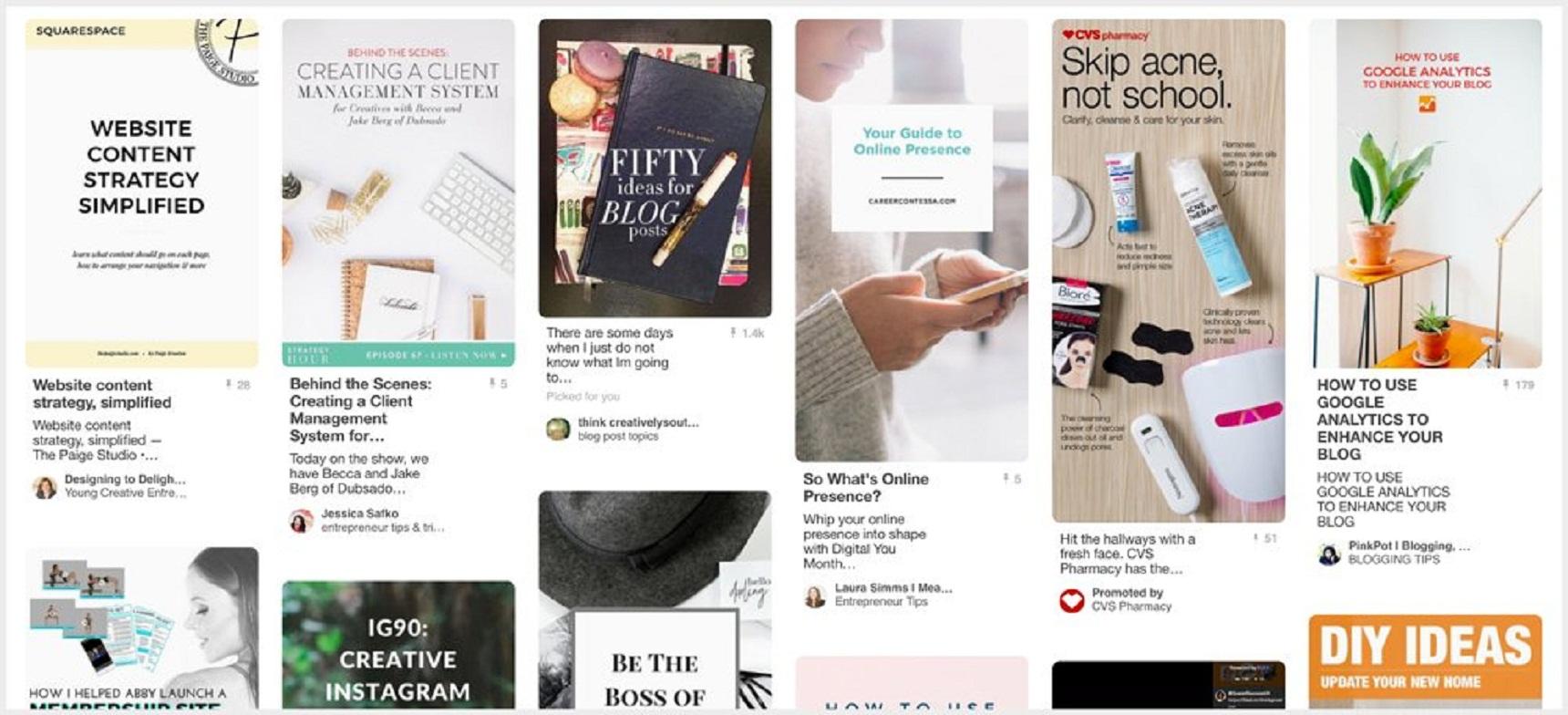 Pinterest'te yayın programlama