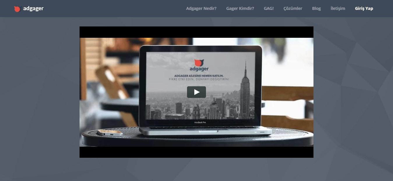 web sitesinde tanıtıcı video
