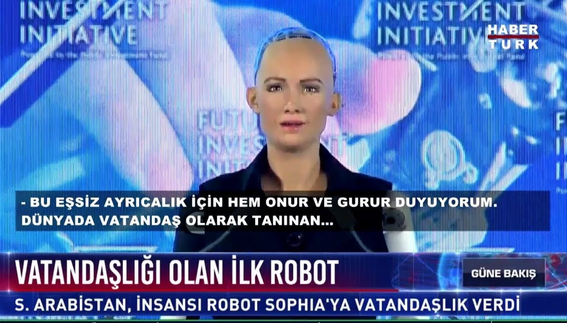 vatandaşlık alan ilk robot