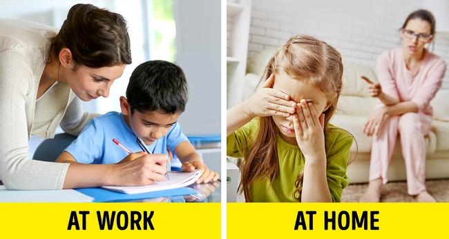 bir öğretmen evde ve okulda ğretmen kimliğini ayırmalıdır.