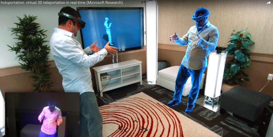"Shahram Izadi, Microsoft'un ""holoportation"" teknolojisini gösteriyor"