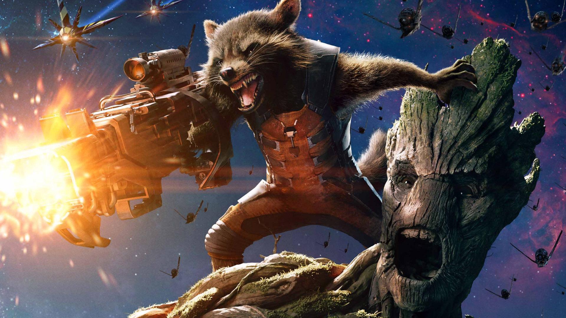 rocket raccoon ve groot