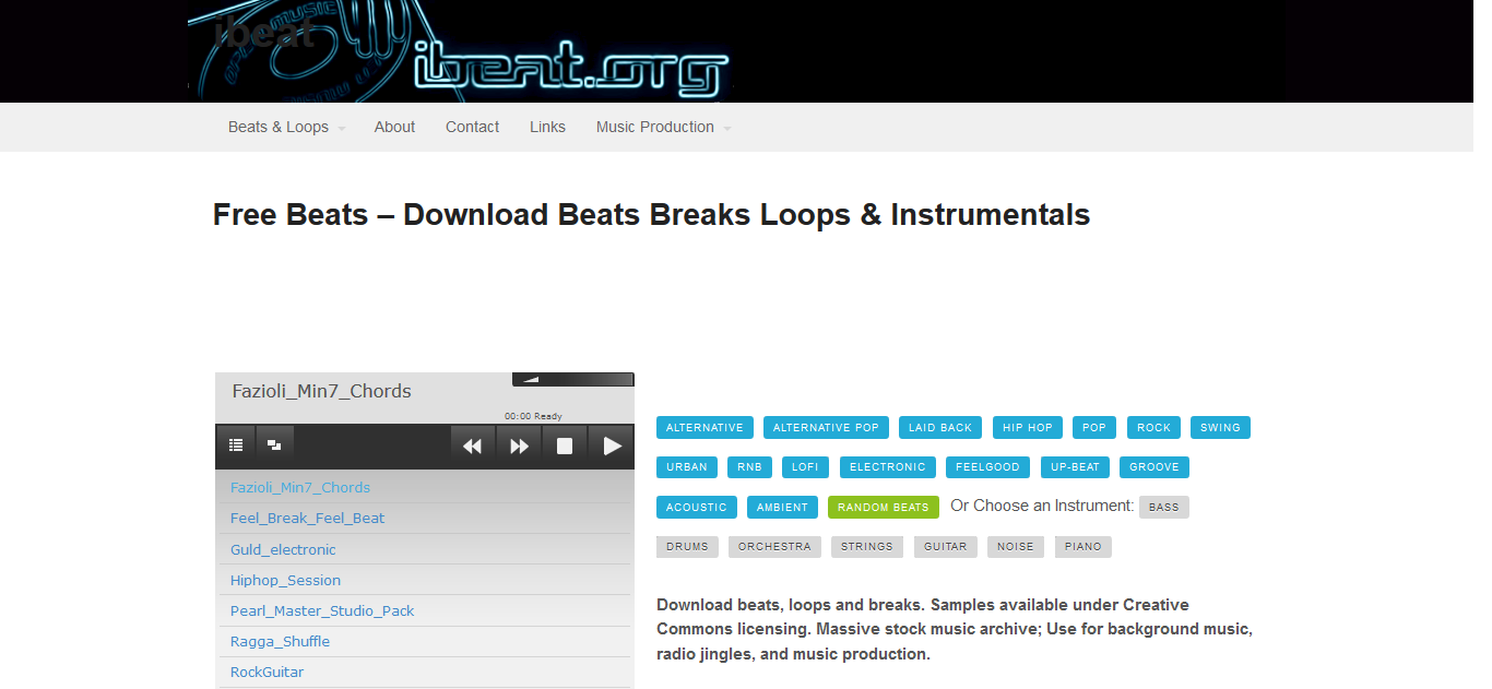 ibeat royalty free music