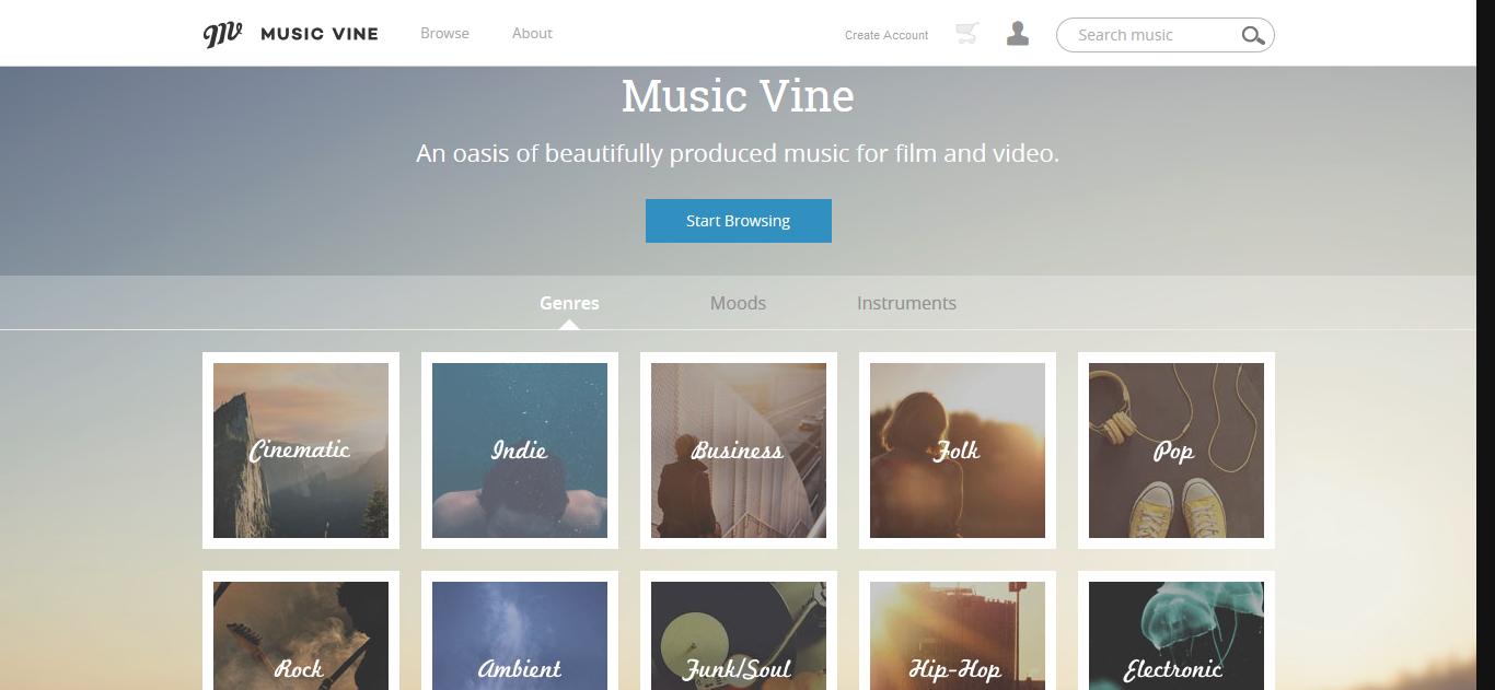 musicvine telifsiz müzik sitesi