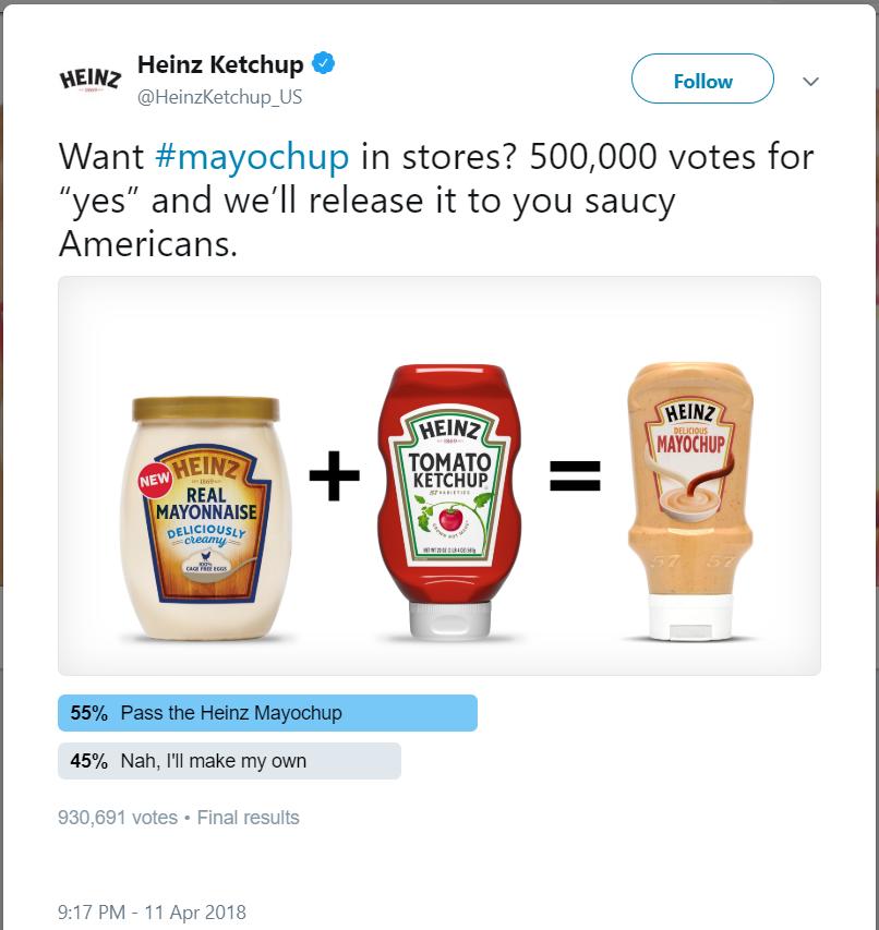 Yeni Bir Ürün Çıkarırken Müşterileri Sürece Dahil Etmek: Heinz - Mayochup