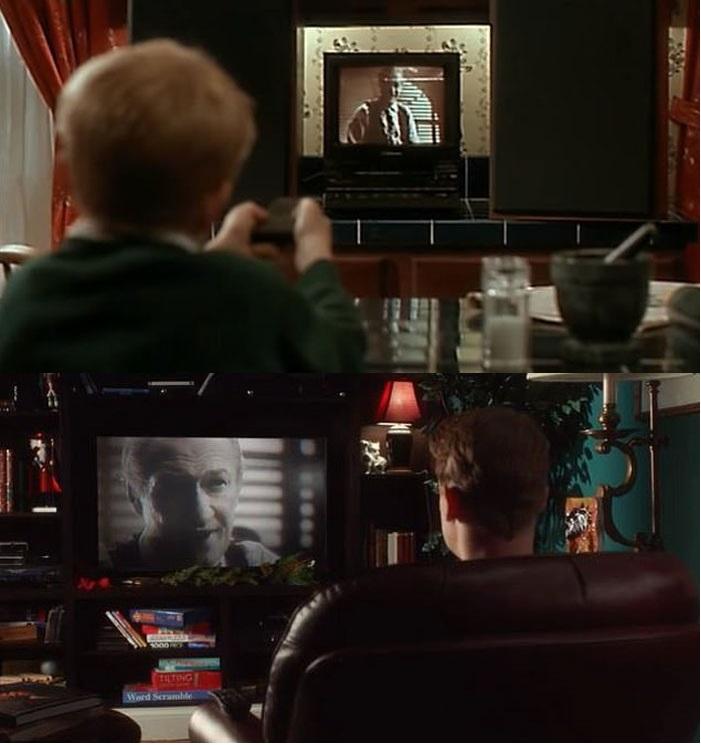 evde tek başına 1990'da yayınlanan ilk film ve 2018 reklam filmi karşılaştırması