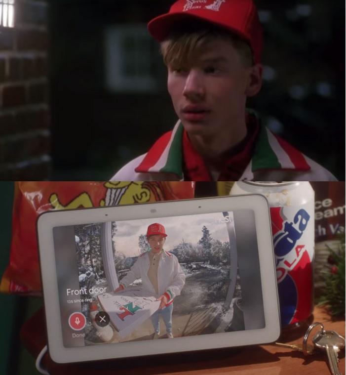 evde tek başına filminin bazı sahnelerinin google reklamı için yeniden çekilmesi