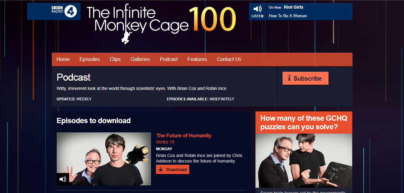 The Infinite Monkey Cage podcasts