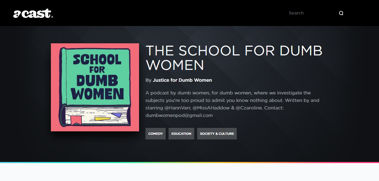the school for dumb women podcast