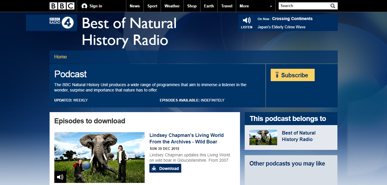best of naturel history radio podcast