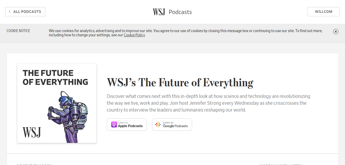 future of everything podcasts