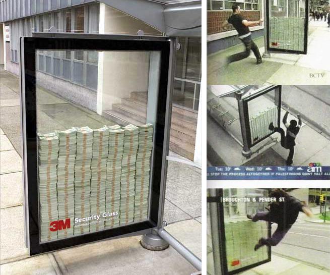 cam reklamı
