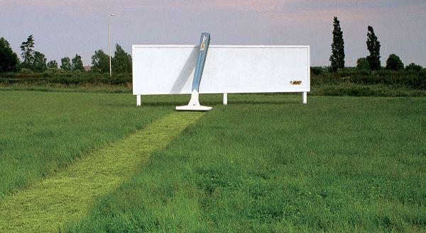 bic razor yaratıcı bilboard reklamları