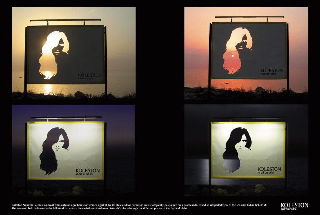 Koleston Naturals yaratıcı bir bilboard reklamı