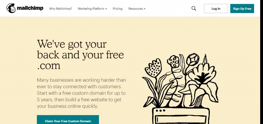 MailChimp e-posta kampanyları için ücretsiz bir araç