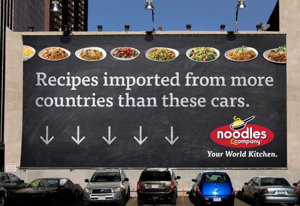 noodles&company your world kitchen bilboard reklamı