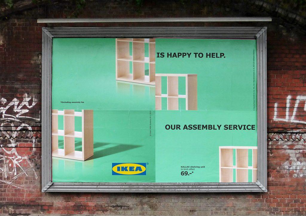 ikea montaj hatası yaratıcı bilboard reklamları