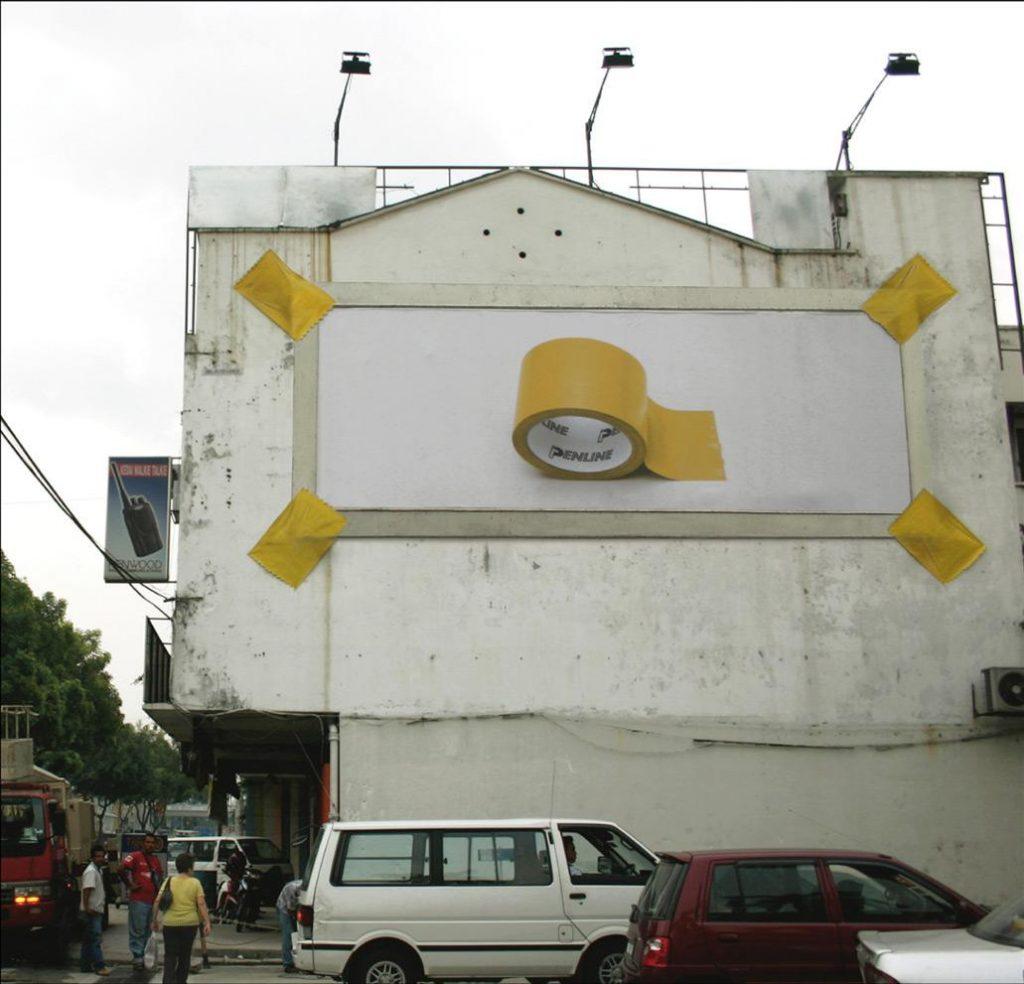 strong tape bilboard reklamı