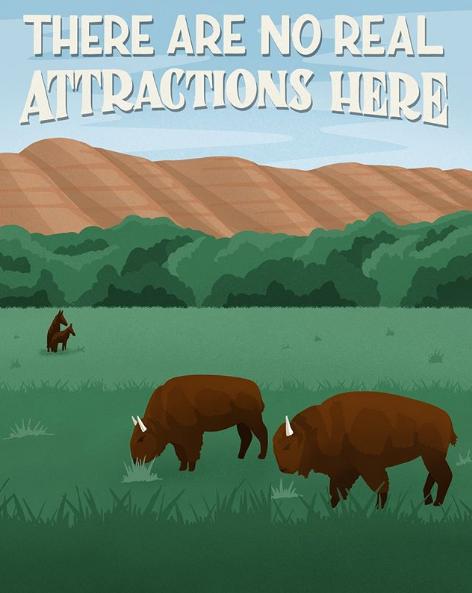 Theodore Roosevelt National Park - komik afişler