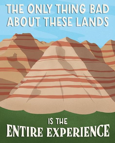 Badlands National Park - komik afişler
