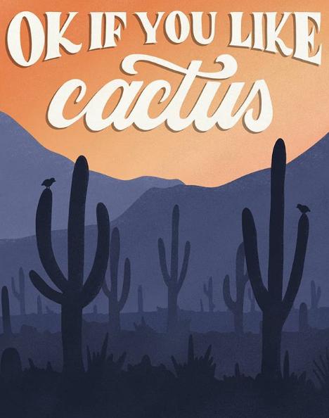 Saguaro National Park - komik afişler