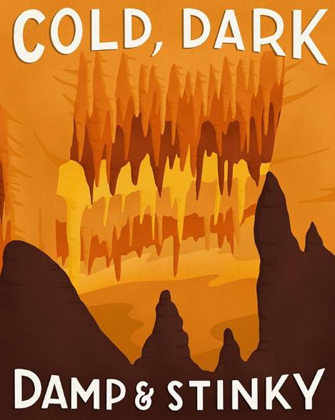 Mammoth Cave National Park - komik afişler