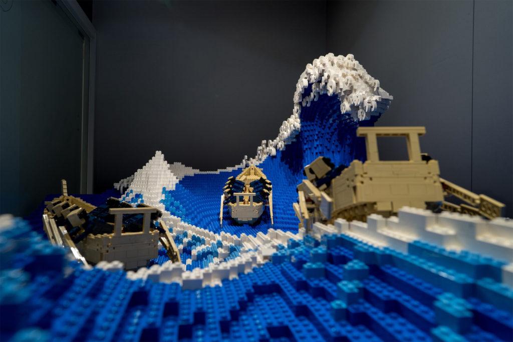 50.000 Lego Parçasından Dalgalı Bir Heykel - Dünyanın Farklı Yerlerinden Sanat