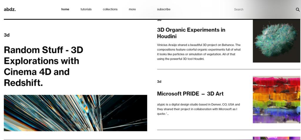 Abduzeedo -  İlham Alabileceğiniz En İyi 10 Grafik Tasarım Blogu