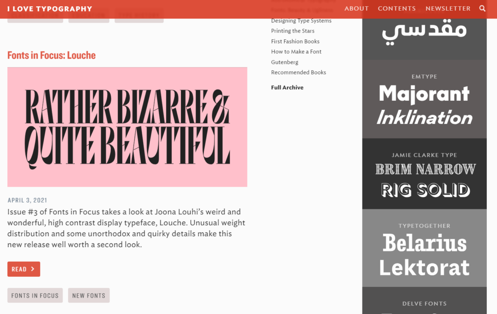 I Love Typography - İlham Alabileceğiniz En İyi 10 Grafik Tasarım Blogu