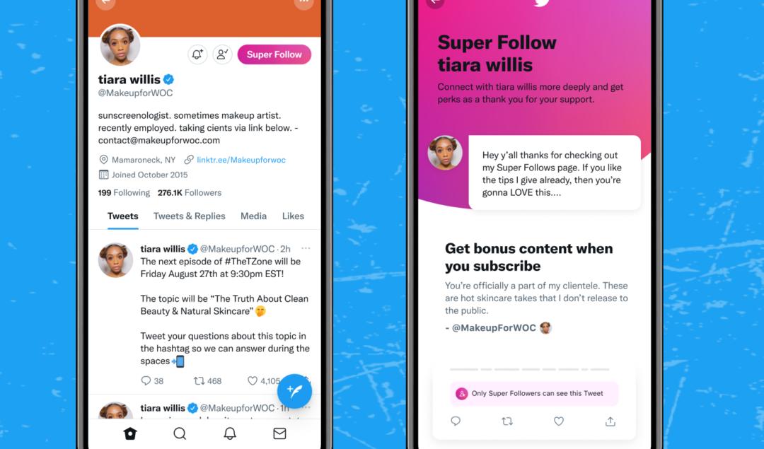 Twitter Super Follows, İki Haftada 6 bin Dolar Gelir Elde Etti!
